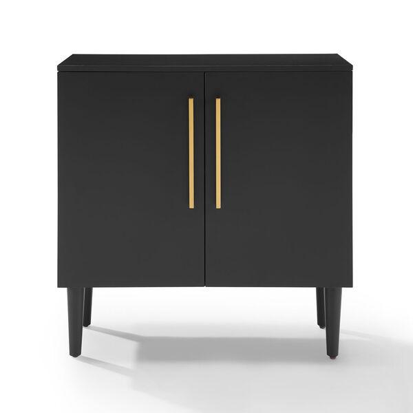 Everett Matte Black Console Cabinet, image 2