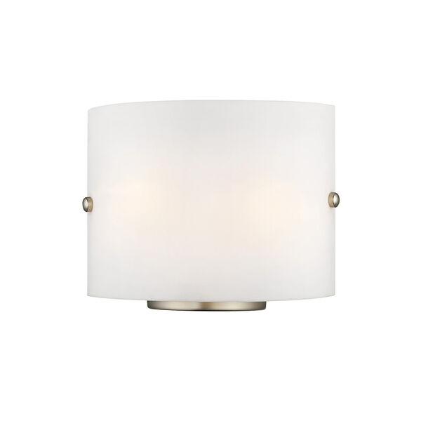Brushed Nickel Two Light 8.75-Inch Wall Sconce, image 1