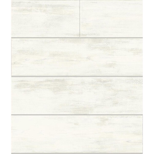 Shiplap White and Gray Removable Wallpaper, image 2