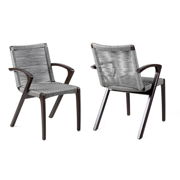 Brielle Dark Eucalyptus Outdoor Dining Chair, Set of Two, image 1