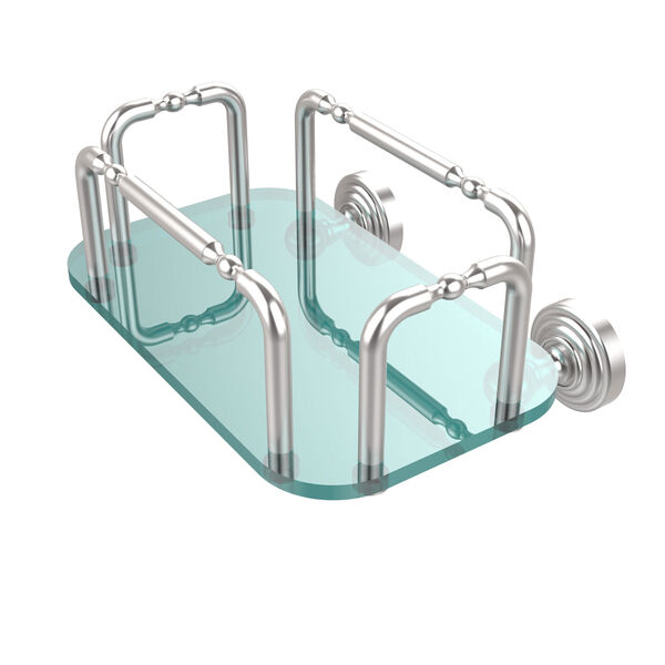 Waverly Place Wall Mounted Guest Towel Holder, Satin Chrome, image 1