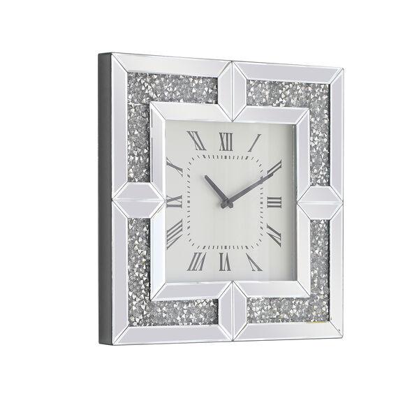 Modern Mirrored 10-Inch Crystal Wall Clock, image 4