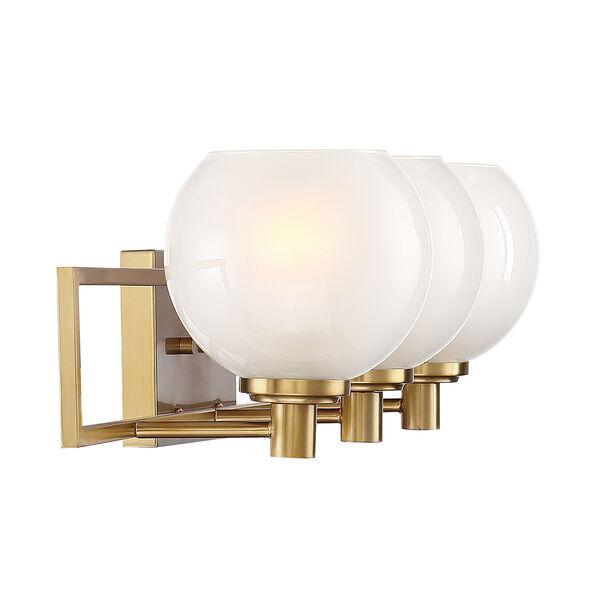 Cowen Brushed Gold Three-Light Bath Vanity, image 4