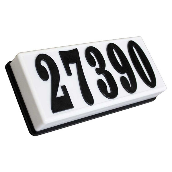 Serrano Black 10-Inch Lighted Address Plaque, image 1