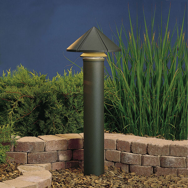 Textured Architectural Bronze Line Voltage One-Light Landscape Path Light, image 1