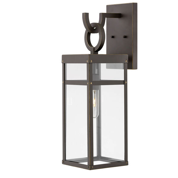 Porter Oil Rubbed Bronze 22-Inch One-Light Outdoor Wall Sconce, image 1