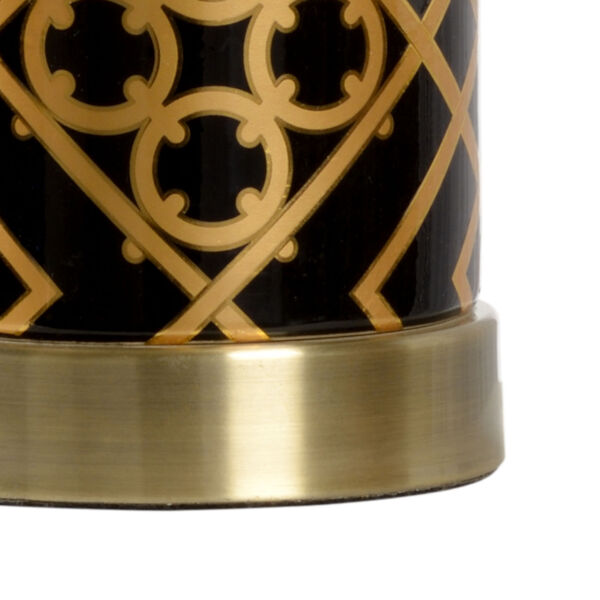 King Black and Metallic Gold One-Light Table Lamp, image 2