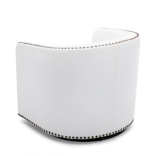 Tyler Milky Swivel Arm Chair, image 6