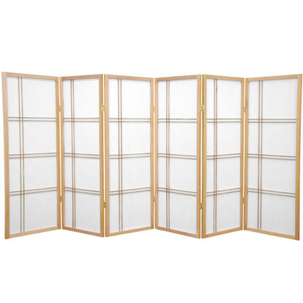 Four Ft. Tall Double Cross Shoji Screen, Width - 103.5 Inches, image 1