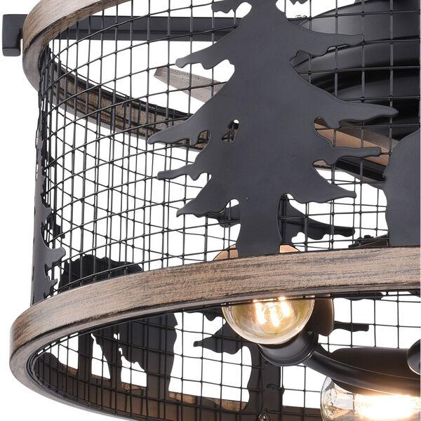 Kodiak Oil Rubbed Bronze and Burnished Teak 21-Inch Three-Light Ceiling Fan, image 4