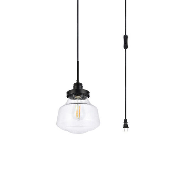 Lyle Black One-Light Plug-In Pendant, image 3