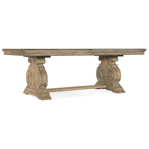 Castella Brown Dining Table with 2 Removable Leaves, image 1