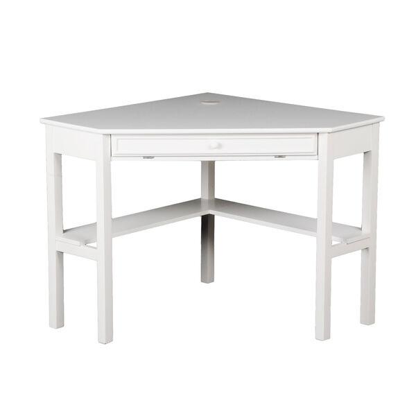 White Corner Computer Desk, image 3