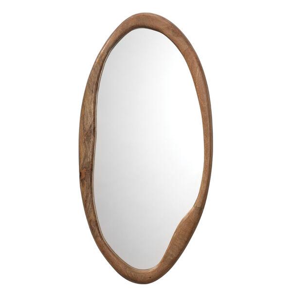 Organic Natural Wood Oval Mirror, image 1