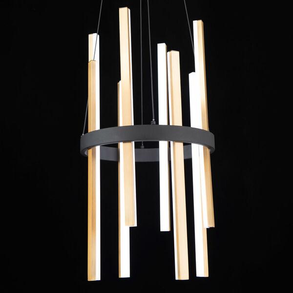 Harmonix Black and Aged Brass LED Chandelier, image 4