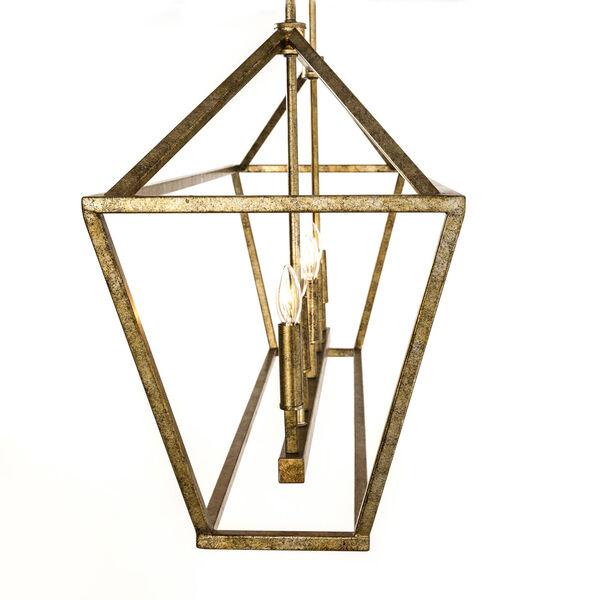 Kenwood Vintage Gold Five-Light Linear Pendant, image 6