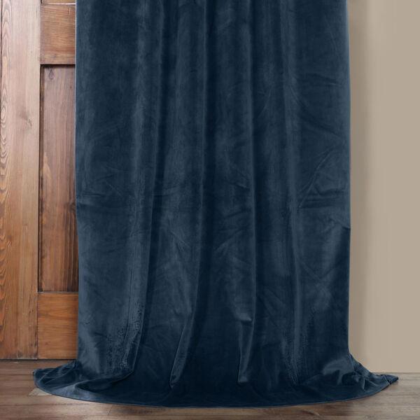 Blue 108 x 50 In. Plush Velvet Curtain Single Panel, image 5