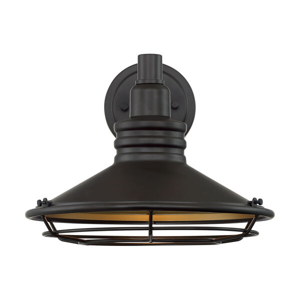 Blue Harbor Dark Bronze and Gold 12-Inch One-Light Outdoor Wall Mount, image 3