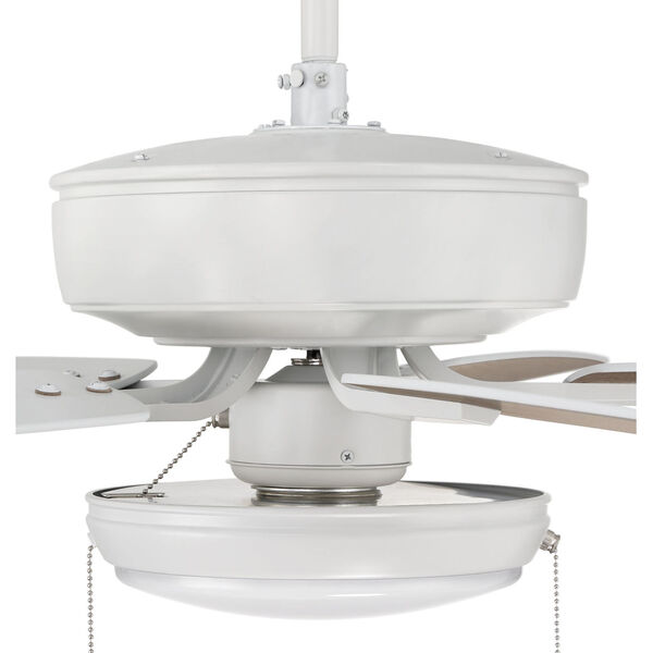 Pro Plus White 52-Inch LED Ceiling Fan with Frost Acrylic Pan Shade, image 6