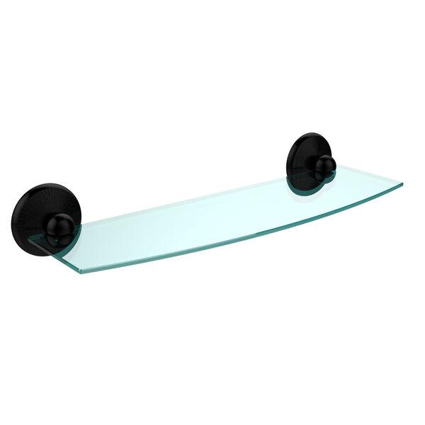 Monte Carlo Matte Black 18 Inch Beveled Glass Shelf, image 1