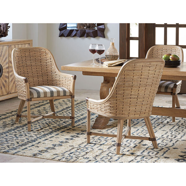 Los Altos Gold and Ivory Keeling Woven Side Chair, image 2