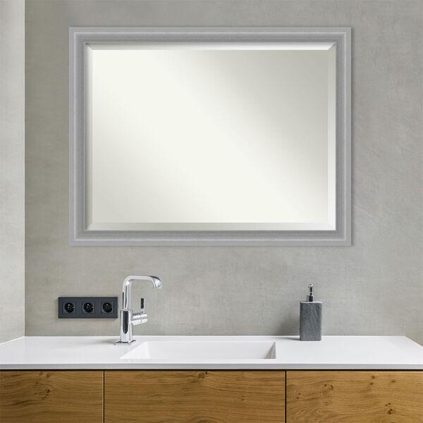 Amanti Art Peak Brushed Nickel Bathroom Vanity Wall Mirror Bm Peak Polished Nickel Bellacor