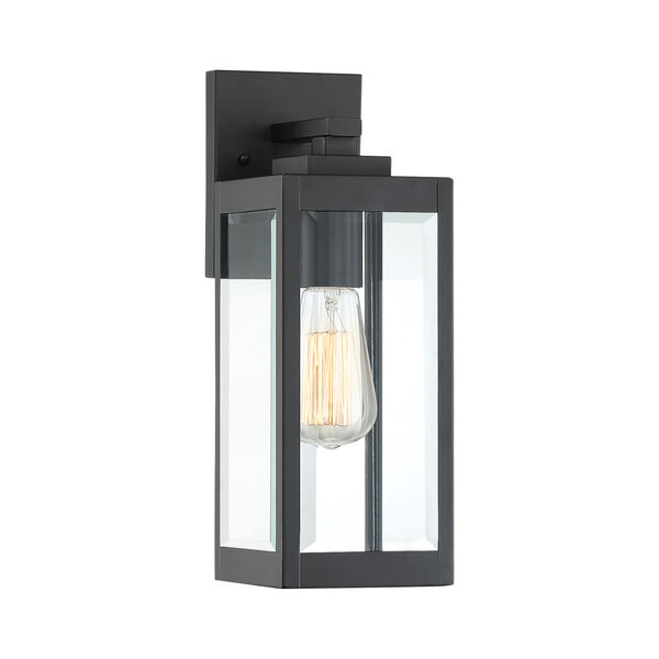 Westover Earth Black 14-Inch One-Light Outdoor Wall Sconce, image 1