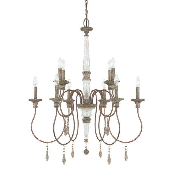 Grace Antique 10-Light Chandelier, image 1