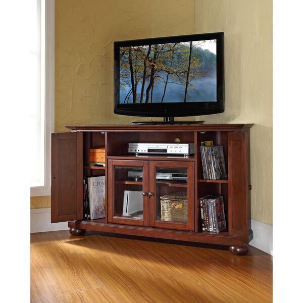 Alexandria 48-Inch Corner TV Stand in Vintage Mahogany Finish, image 4