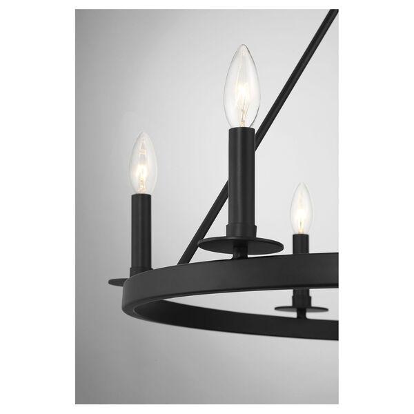Linden Matte Black Six-Light Chandelier, image 6