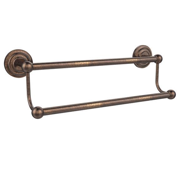 Venetian Bronze 24 Inch Double Towel Bar, image 1