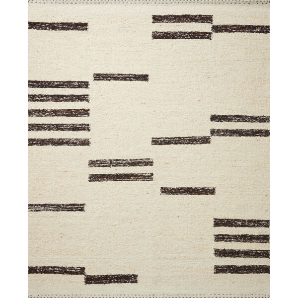 Roman Natural and Black Area Rug, image 1