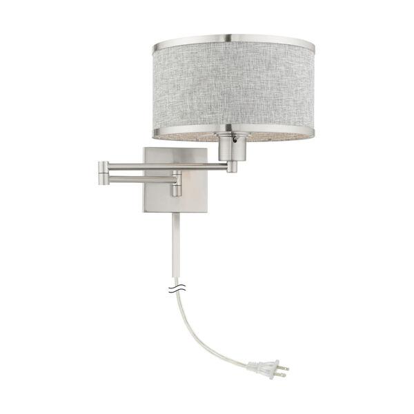 Park Ridge Brushed Nickel One-Light Swing Arm Wall Lamp, image 6