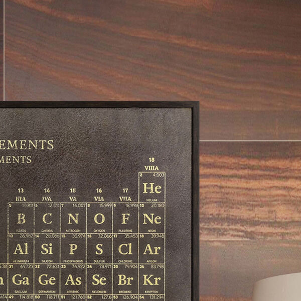 Periodic Table Brown Framed Art, image 3