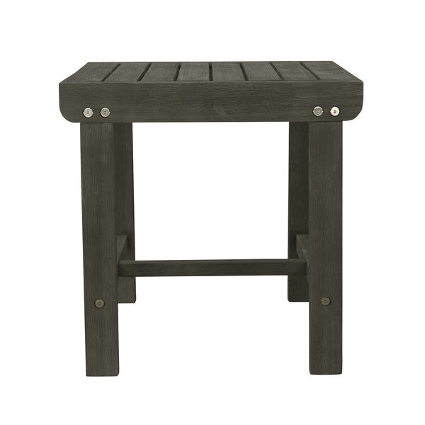 Renaissance Grey Outdoor Wood Side Table, image 2