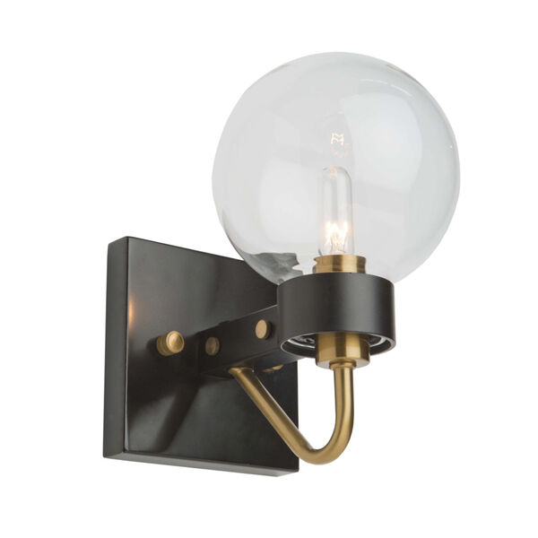 Chelton Matte Black and Harvest Brass Five-Inch One-Light Wall Sconce, image 1