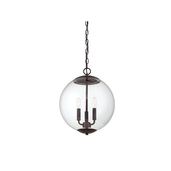 Whittier Oil Rubbed Bronze Three-Light Globe Pendant, image 3