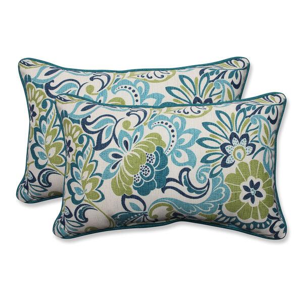 Outdoor Zoe Mallard Rectangular Throw Pillow, Set of 2, image 1