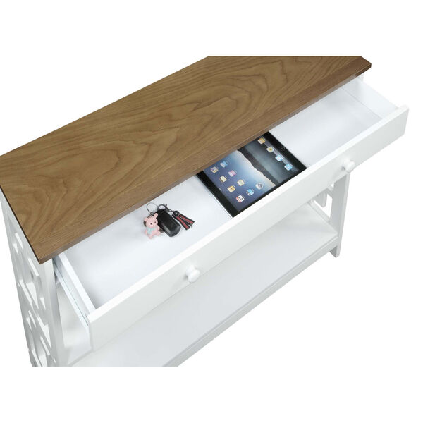 Town Square Driftwood White Accent Console Table, image 5