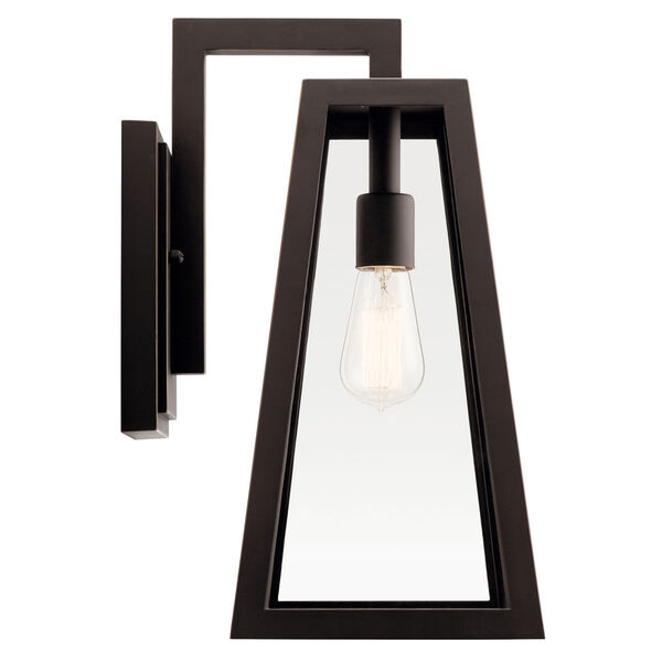 Delison Rubbed Bronze 10-Inch One-Light Outdoor Wall Sconce, image 3