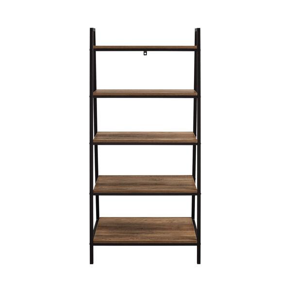 Arlo Reclaimed Barnwood Five Shelf Ladder Bookshelf, image 1