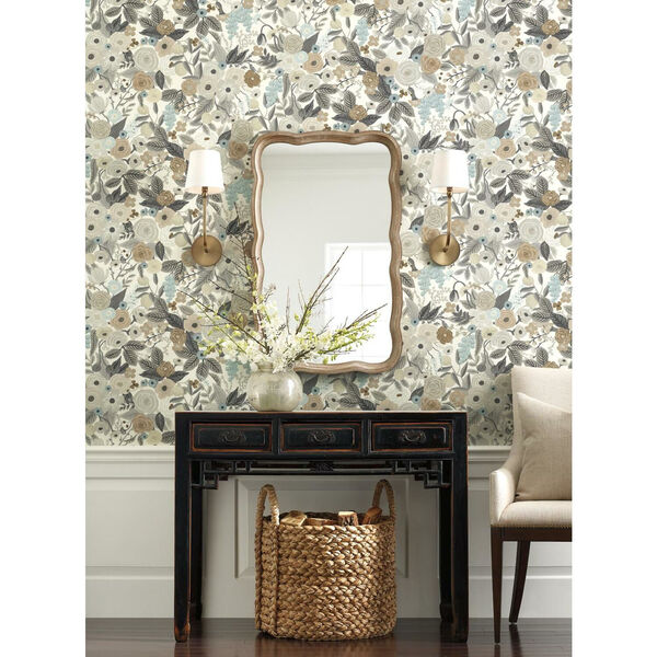 Rifle Paper Co. Brown and Beige Garden Party Wallpaper, image 1