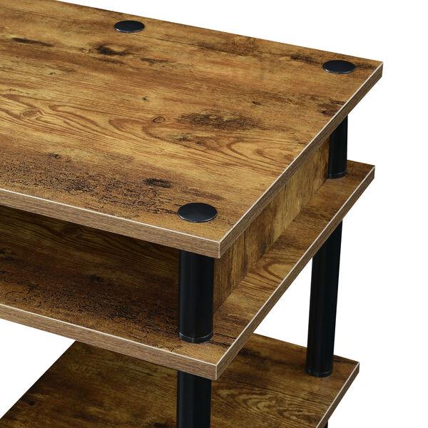 Designs2Go Barnwood Black No Tools Student Desk with Shelves, image 4