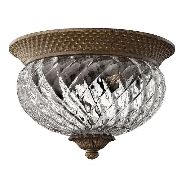 Plantation Pearl Bronze Two-Light Flush Ceiling Light, image 1