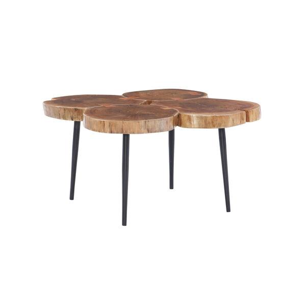 Aurelio Brown and Black Live Edge Small Coffee Table, image 1