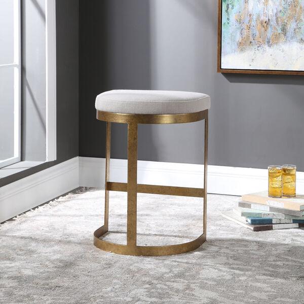 Ivanna Antique Gold Counter Stool, image 3
