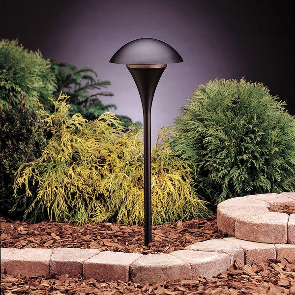 Textured Black Line Voltage One-Light Landscape Path Light, image 1