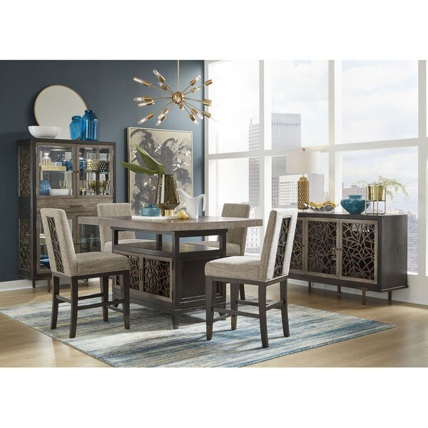 Ryker Black Counter Height Dining Table, image 5