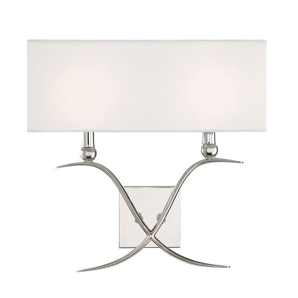 Linden Polished Nickel Two-Light Wall Sconce, image 1