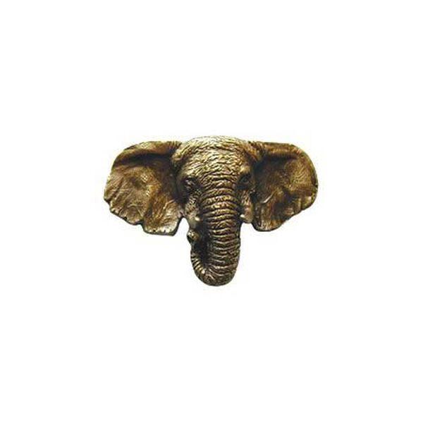 Antique Brass Goliath Elephant Knob , image 1